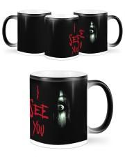 Halloween I see you creepy eyes magic mug Color Changing Mug ceramic-color-changing-mug-lifestyle-46