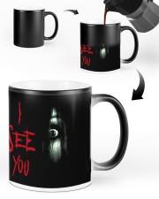 Halloween I see you creepy eyes magic mug Color Changing Mug ceramic-color-changing-mug-lifestyle-48