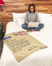 """Personalized Letter to dad from daughter blanket Small Fleece Blanket - 30"""" x 40"""" aos-coral-fleece-blanket-30x40-lifestyle-front-08a"""
