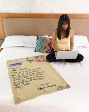 """Personalized Letter to dad from daughter blanket Small Fleece Blanket - 30"""" x 40"""" aos-coral-fleece-blanket-30x40-lifestyle-front-11a"""