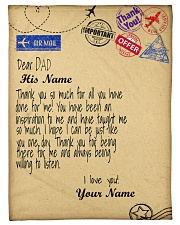 """Personalized Letter to dad from daughter blanket Small Fleece Blanket - 30"""" x 40"""" front"""