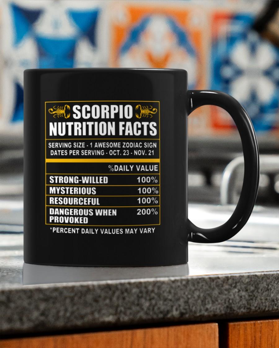 New scoripo nutrition facts Mug