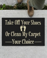 """Take Off Your Shoes Or Clean My Carpet Your Choice Doormat  Doormat 22.5"""" x 15""""  aos-doormat-22-5x15-lifestyle-front-01"""