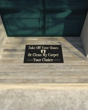 """Take Off Your Shoes Or Clean My Carpet Your Choice Doormat  Doormat 22.5"""" x 15""""  aos-doormat-22-5x15-lifestyle-front-17"""