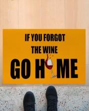 """If you forgot the wine go home doormat  Doormat 22.5"""" x 15""""  aos-doormat-22-5x15-lifestyle-front-10"""