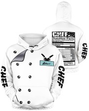 Chef Nutrition Facts 3D Personalized Hoodie  Men's All Over Print Hoodie aos-men-hoodie-ghosted-front-04