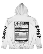 Chef Nutrition Facts 3D Personalized Hoodie  Men's All Over Print Hoodie back