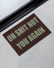 """Oh shit not you again doormat  Doormat 22.5"""" x 15""""  aos-doormat-22-5x15-lifestyle-front-09"""