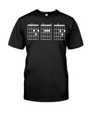 Mens Guitar Chord Shirt - Dad Classic T-Shirt front