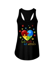 AUTISM I AM HIS VOICE HE IS MY HEART Ladies Flowy Tank thumbnail