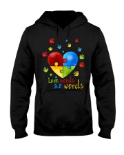 AUTISM I AM HIS VOICE HE IS MY HEART Hooded Sweatshirt thumbnail