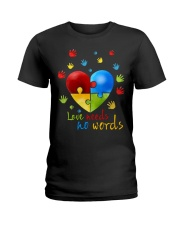 AUTISM I AM HIS VOICE HE IS MY HEART Ladies T-Shirt thumbnail
