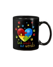 AUTISM I AM HIS VOICE HE IS MY HEART Mug thumbnail