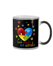AUTISM I AM HIS VOICE HE IS MY HEART Color Changing Mug thumbnail