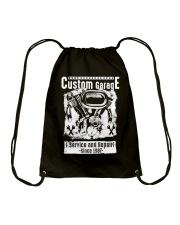 Motor Garage Time  Drawstring Bag front