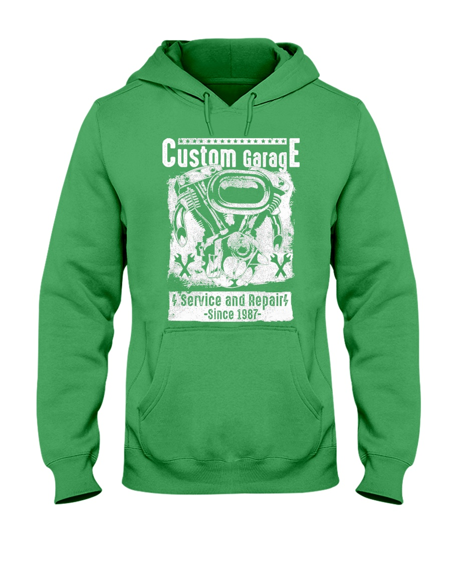 Motor Garage Time Hooded Sweatshirt