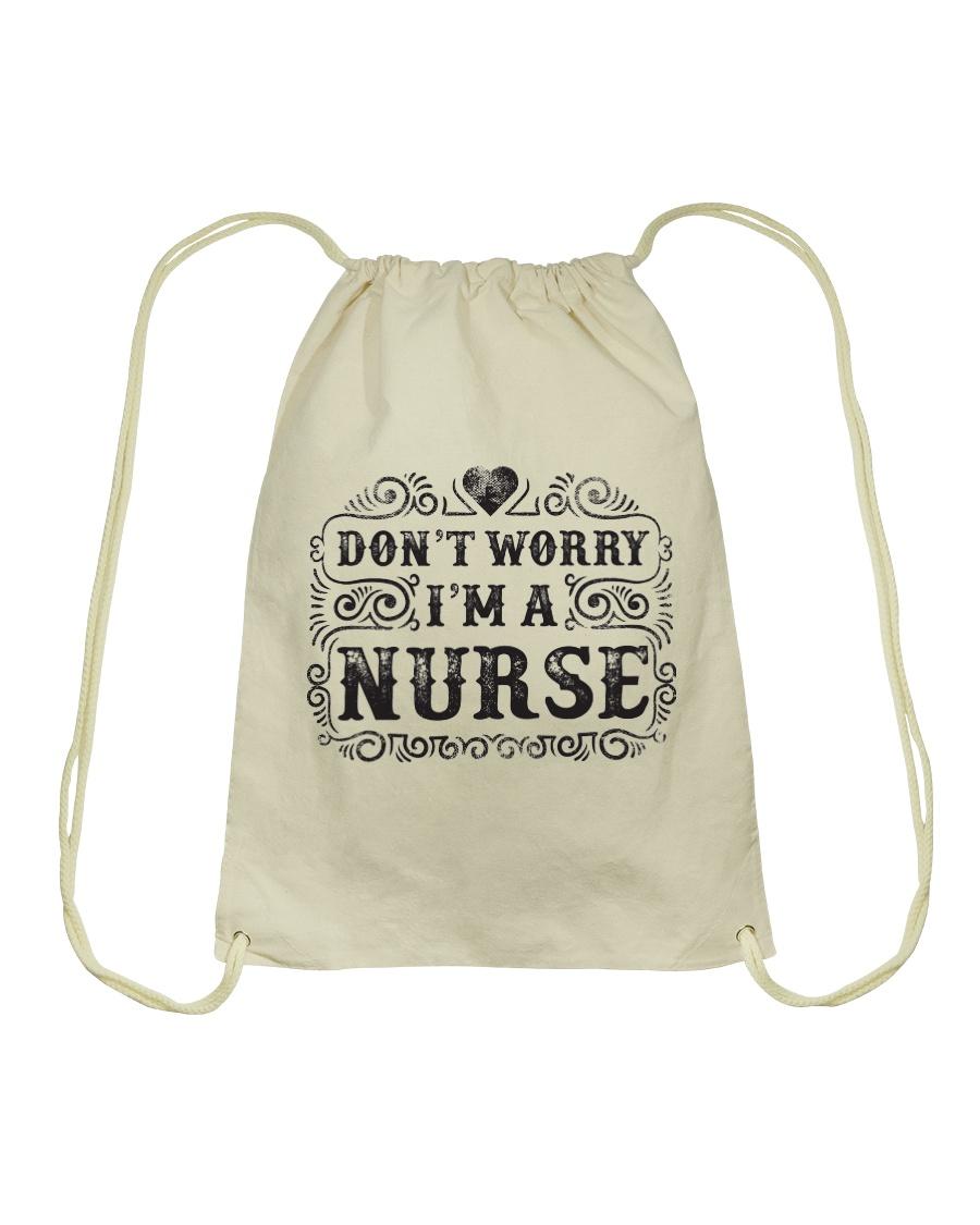 I Am A Nurse So Worry No More Drawstring Bag