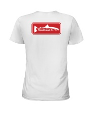 MNST Red Logo 2 Apparel Ladies T-Shirt back