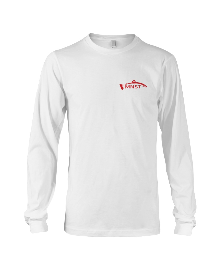MNST Red Logo 2 Apparel Long Sleeve Tee