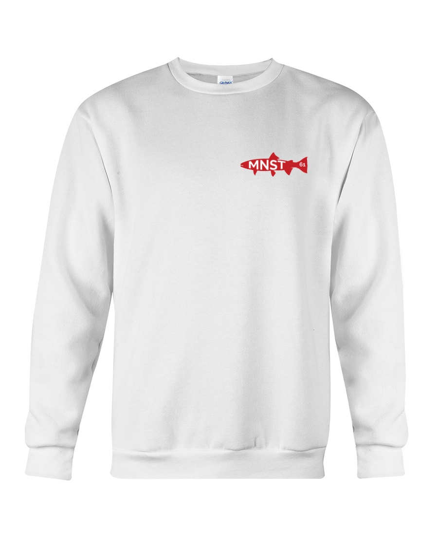 MNST Steelhead Red Logo 1 Apparel Crewneck Sweatshirt