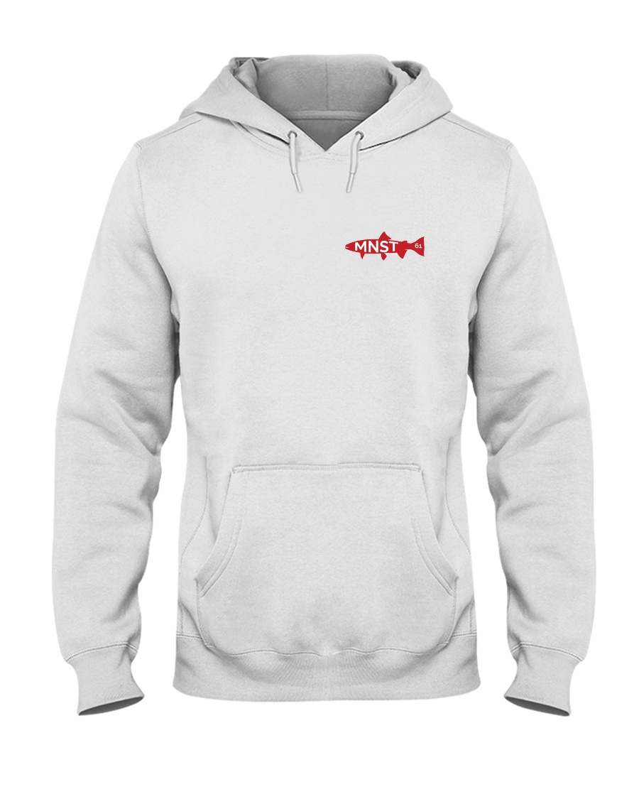 MNST Steelhead Red Logo 1 Apparel Hooded Sweatshirt