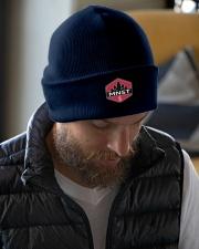 2019 Minnesota Steelheder membership gear Knit Beanie garment-embroidery-beanie-lifestyle-06