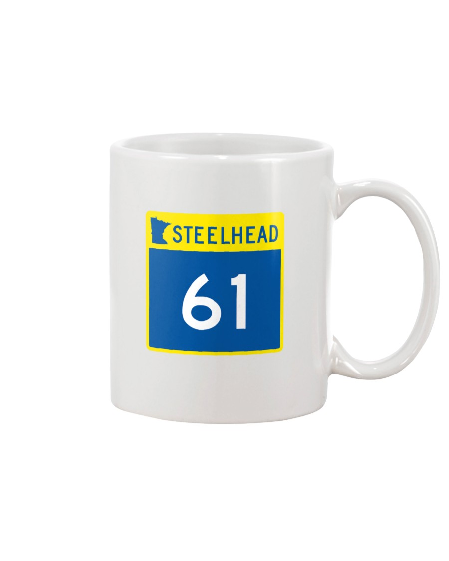 Steelhead 61 - White Distressed Logo Apparel Mug