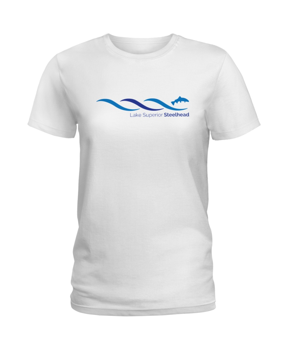 Lake Superior Steelhead Research Ladies T-Shirt