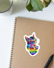 Love is love Sticker - Single (Vertical) aos-sticker-single-vertical-lifestyle-front-16