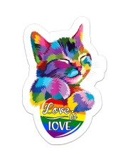 Love is love Sticker - Single (Vertical) front