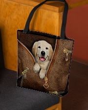 Cute Golden Retriever  All-over Tote aos-all-over-tote-lifestyle-front-02