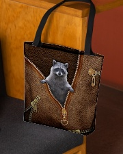Cute racoon All-over Tote aos-all-over-tote-lifestyle-front-02