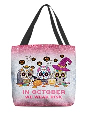 In october we wear pink All-over Tote front