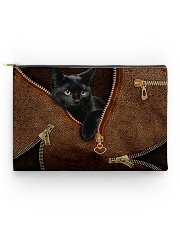 Black cat pouch Accessory Pouch - Standard front