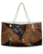 Black cat pouch Weekender Tote thumbnail