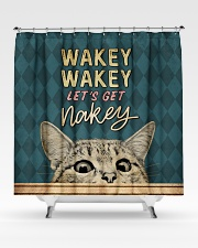 Wakey let's get nakey Shower Curtain aos-shower-curtains-71x74-lifestyle-front-02