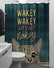 Wakey let's get nakey Shower Curtain aos-shower-curtains-71x74-lifestyle-front-04