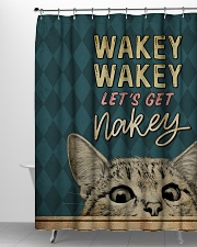 Wakey let's get nakey Shower Curtain aos-shower-curtains-71x74-lifestyle-front-06
