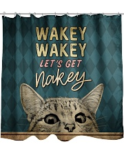 Wakey let's get nakey Shower Curtain front
