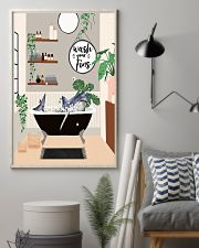 Wash your fins 11x17 Poster lifestyle-poster-1