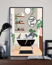 Wash your fins 11x17 Poster lifestyle-poster-2