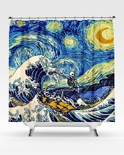 Starry night shower Shower Curtain aos-shower-curtains-71x74-lifestyle-front-02