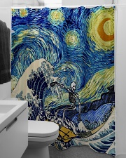 Starry night shower Shower Curtain aos-shower-curtains-71x74-lifestyle-front-04