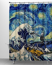 Starry night shower Shower Curtain aos-shower-curtains-71x74-lifestyle-front-06