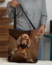 Cute dachshund All-over Tote aos-all-over-tote-lifestyle-front-10