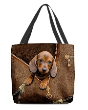 Cute dachshund All-over Tote back