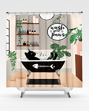 Wash your paws Shower Curtain aos-shower-curtains-71x74-lifestyle-front-02