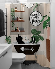 Wash your paws Shower Curtain aos-shower-curtains-71x74-lifestyle-front-04