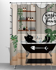 Wash your paws Shower Curtain aos-shower-curtains-71x74-lifestyle-front-06