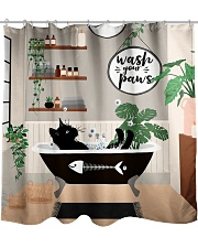 Wash your paws Shower Curtain front